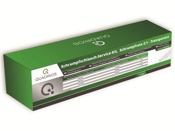 QUADRIOS, 2004CA104, Schrumpfschlauch-Service Kit, 2:1, Transparent, 7 teilig - Produktbild 2