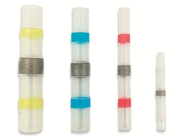 QUADRIOS, 2011C396, Löt-Stoßverbinder-Sortiment 120 Teile mit Lötzinn Transparent mit Innenkleber - Produktbild 3