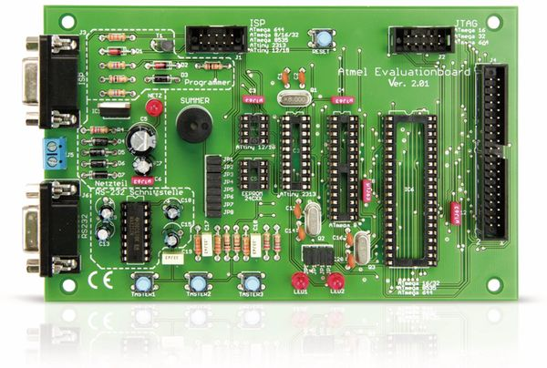ATMEL Evaluations-Board V2.0.1 - Fertigmodul - Produktbild 3