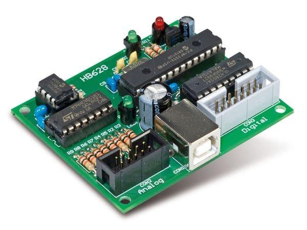 H-TRONIC 8-Kanal 12-bit USB-Datenerfassungs-/ Steuermodul - Produktbild 1