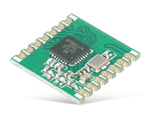 Funkmodul HOPERF RFM69CW, 433 MHz, TX/RX