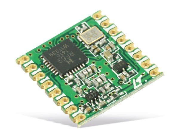 Funkmodul HOPERF RFM69HCW, 433 MHz, TX/RX
