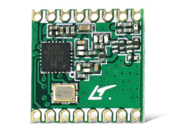 Funkmodul HOPERF RFM24W, 433 MHz, TX/RX - Produktbild 1