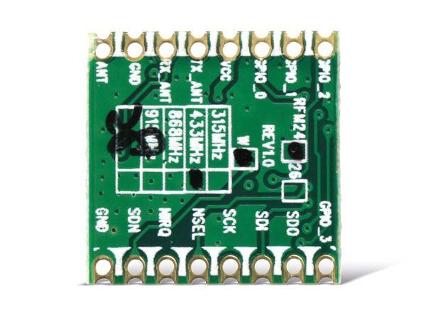 Funkmodul HOPERF RFM24W, 433 MHz, TX/RX - Produktbild 2