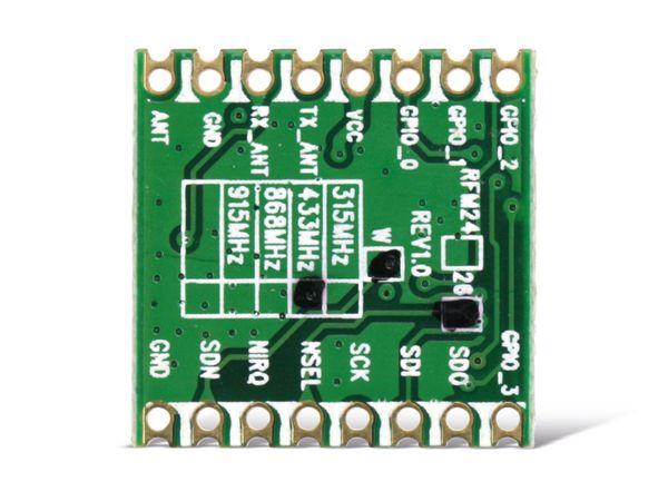 Funkmodul HOPERF RFM26W, 433 MHz, TX/RX - Produktbild 2