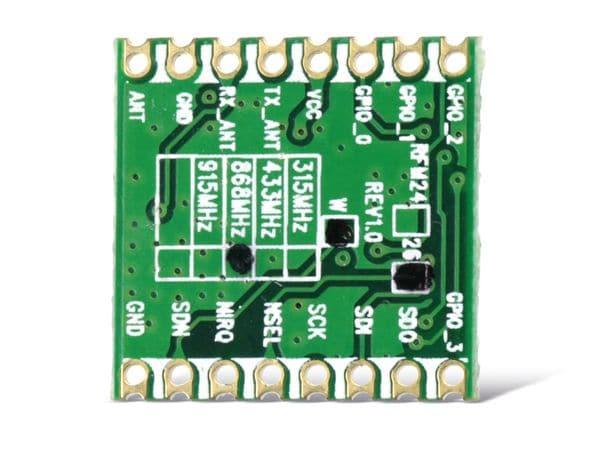 Funkmodul HOPERF RFM26W, 868 MHz, TX/RX - Produktbild 2
