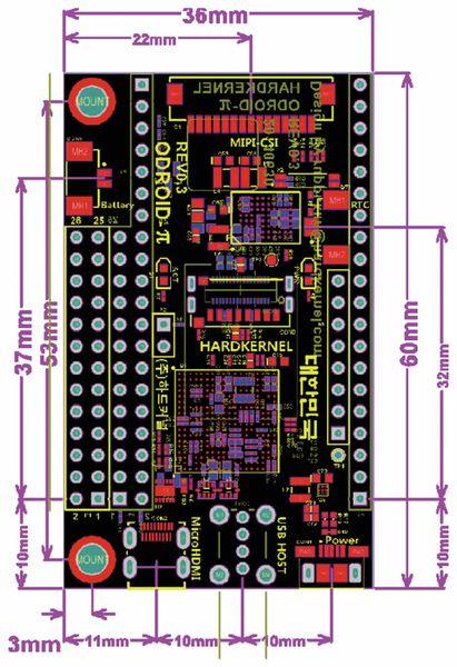 ODROID-W Einplatinen-Computer, ARM11 700 MHz, 512 MB - Produktbild 3