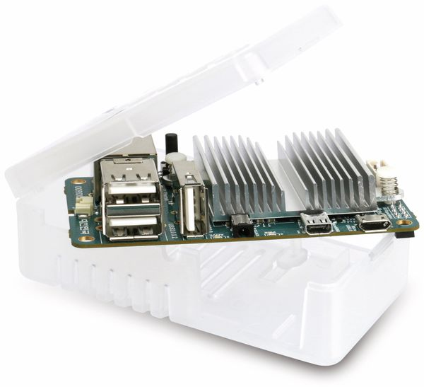 ODROID-U3 Bundle 1, U3/Gehäuse/Netzteil/8 GB eMMC Linux - Produktbild 1
