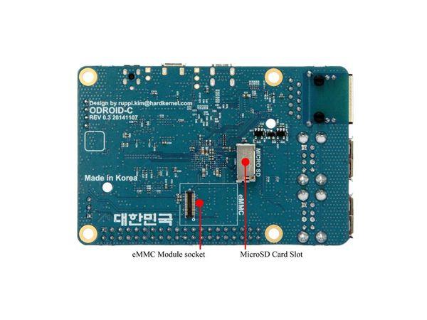 ODROID-C1 Einplatinen-Computer, 1,5 GHz QuadCore, 4x USB, 1 GB - Produktbild 2