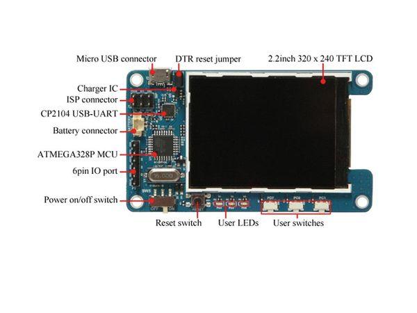 "ODROID-SHOW2, LCD-Board, 2,2"" (5,6 cm) - Produktbild 2"