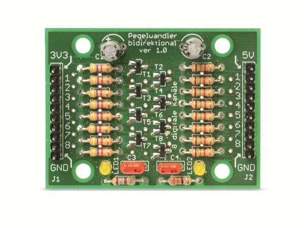 Bausatz 8-Kanal Pegelwandler 3,3 /5 V, digital, bidirektional - Produktbild 3