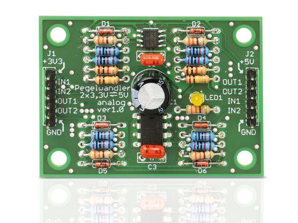 Bausatz Pegelwandler 3,3 V/5 V, analog, bidirektional - Produktbild 3