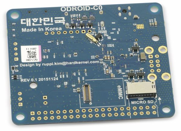 ODROID-C0 Einplatinencomputer, 1,5 GHz Quadcore, 1 GB DDR3 - Produktbild 2