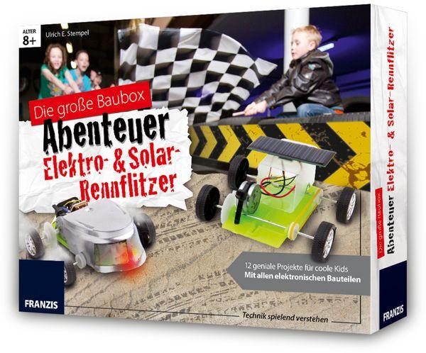 FRANZIS Die große Baubox - Abenteuer Elekro- und Solar-Rennflitzer - Produktbild 1
