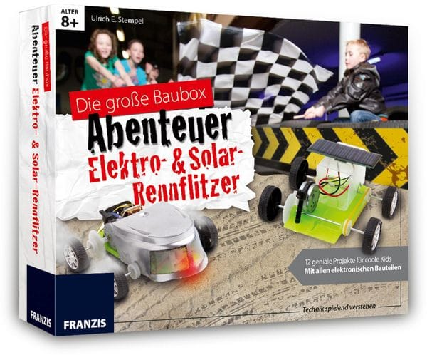 FRANZIS Die große Baubox - Abenteuer Elekro- und Solar-Rennflitzer - Produktbild 2