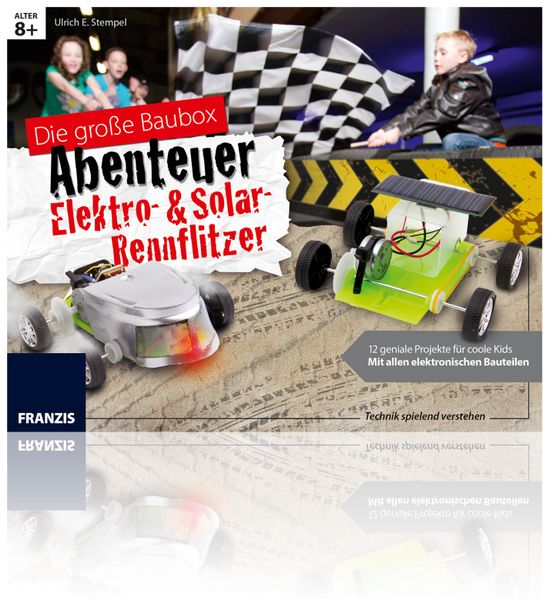 FRANZIS Die große Baubox - Abenteuer Elekro- und Solar-Rennflitzer - Produktbild 3