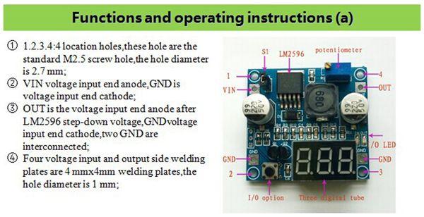Step-Down-Modul mit Spannungsanzeige DAYPOWER POWER-2596-2 - Produktbild 3