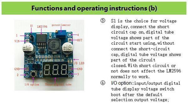 Step-Down-Modul mit Spannungsanzeige DAYPOWER POWER-2596-2 - Produktbild 4