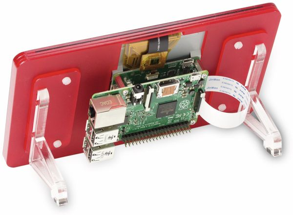 "Raspberry Pi 7"" Touch-Display-Rahmen Coupe (rot)"