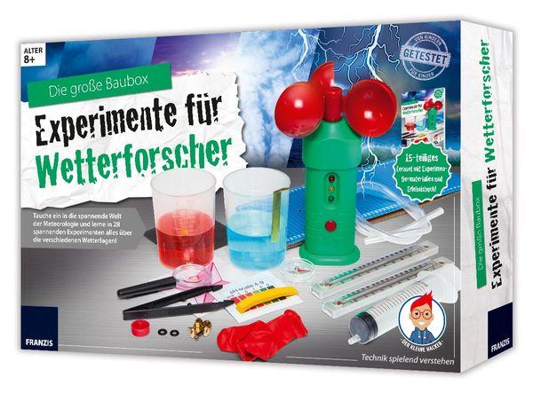 FRANZIS Lernpaket Die große Baubox - Experimente für Wetterforscher