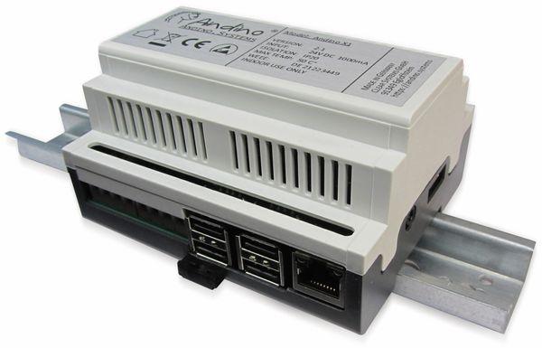 Hutschienengehäuse mit Arduino kompatiblen Controller für den Raspberry Pi - Produktbild 1