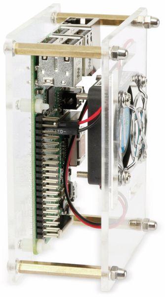 Raspberry Pi Acryl Gehäuse mit Lüfter, transparent - Produktbild 2