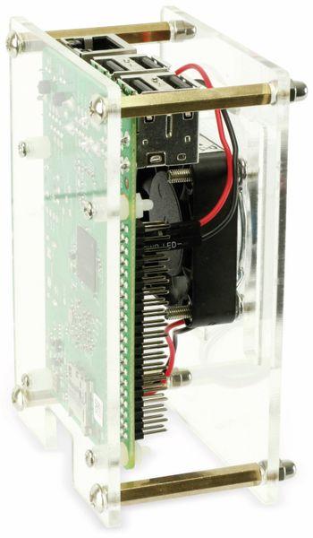 Raspberry Pi Acryl Gehäuse mit Lüfter, transparent - Produktbild 4