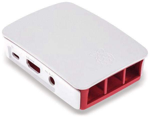 Raspberry Pi 3 Model B, Gehäuse, himbeerfarben/weiß - Produktbild 1