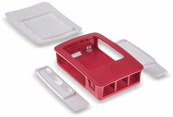Raspberry Pi 3 Model B, Gehäuse, himbeerfarben/weiß - Produktbild 2