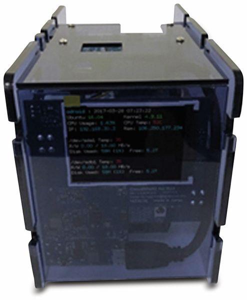 "ODROID-XU4 CloudShell 2 Case 2 mit 2,8"" TFT Display, transparent blau - Produktbild 1"