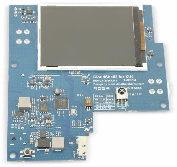 "ODROID-XU4 CloudShell 2 Case 2 mit 2,8"" TFT Display, transparent blau - Produktbild 4"