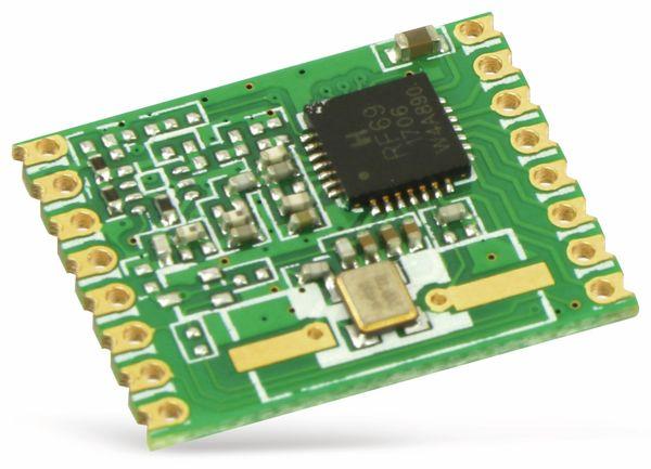 Funkmodul HOPERF RFM69W, 868 MHz, S2, TX/RX - Produktbild 1