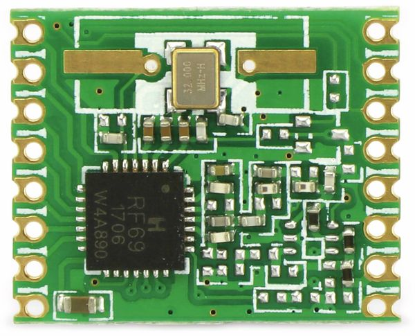 Funkmodul HOPERF RFM69W, 868 MHz, S2, TX/RX - Produktbild 5