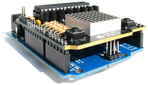 maroon SHIELD NICAI SYSTEMS, 8×8 LED-Matrix-Display - Produktbild 3
