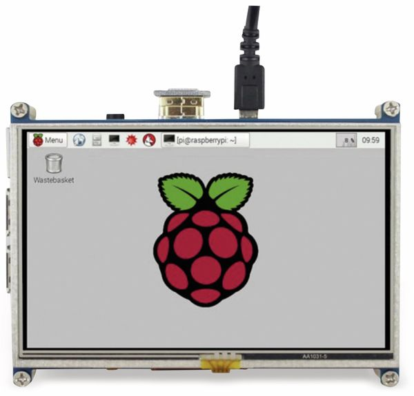 "JOY-IT Touchscreen Display, HDMI, Raspberry Pi, 5"", 800x480 - Produktbild 3"