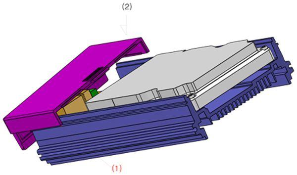 ODROID-HC1 Gehäuse, transparent - Produktbild 4