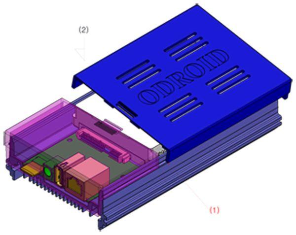 ODROID-HC1 Gehäuse, transparent - Produktbild 5
