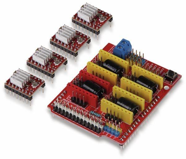 JOY-IT Controllerboard CNC mit 4x A4988 Motortreiber für Arduino Uno - Produktbild 1