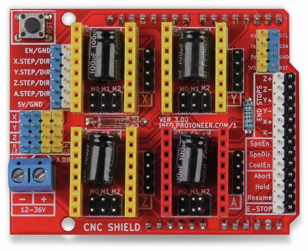 JOY-IT Controllerboard CNC mit 4x A4988 Motortreiber für Arduino Uno - Produktbild 3