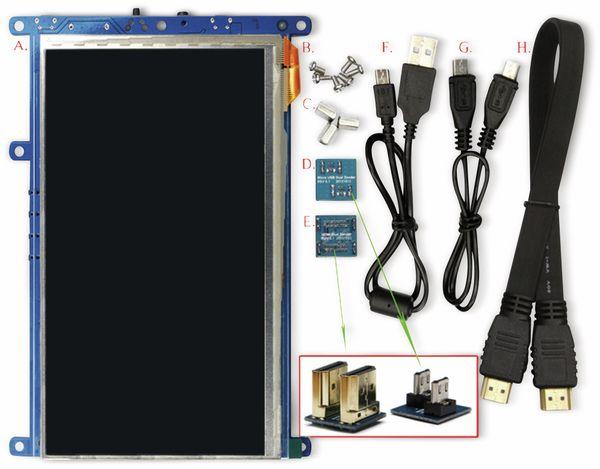 """17,8 cm (7"""") Multitouch TFT-Display mit HDMI und Audio ODROID-VU7A PLUS - Produktbild 2"""