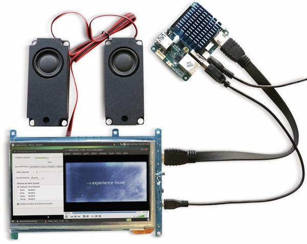 """17,8 cm (7"""") Multitouch TFT-Display mit HDMI und Audio ODROID-VU7A PLUS - Produktbild 3"""