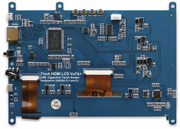 """17,8 cm (7"""") Multitouch TFT-Display mit HDMI und Audio ODROID-VU7A PLUS - Produktbild 4"""