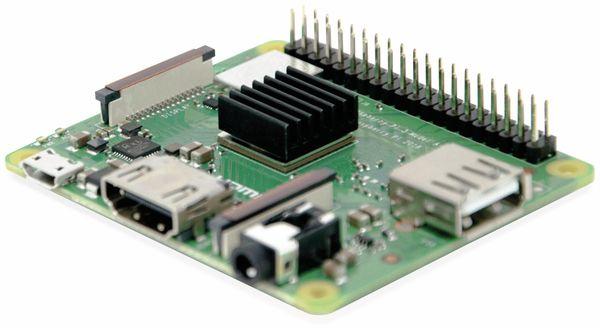 Raspberry PI 3A+mit Kühlkörper bestückt