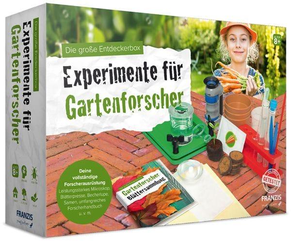 Die große Entdeckerbox, Experimente für Gartenforscher, FRANZIS