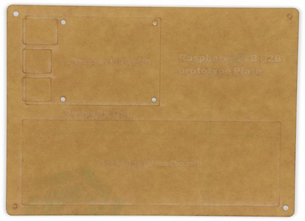 Acrylplatte und Breadboard für RPi B+/2B/3B/3B+ - Produktbild 2