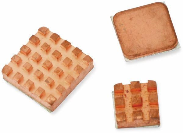Raspberry Pi Kühlkörper Set, Kupfer, 3-teilig