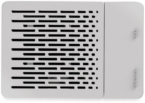 ABS Gehäuse weiß für RPi mit Kühlkörper-Set und Lüfter - Produktbild 3