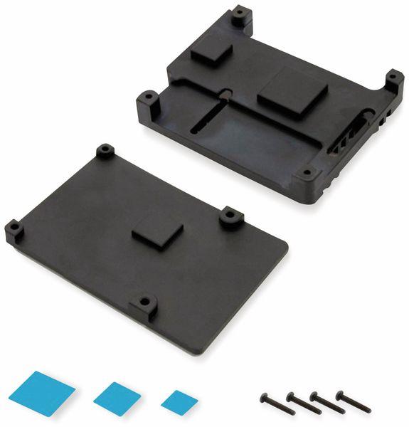 Armor Gehäuse für Raspberry Pi 3, Alu gefräst, 2xLüfter, schwarz