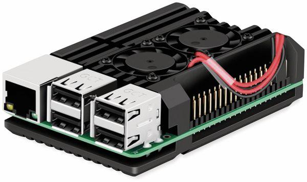 Armor Gehäuse für Raspberry Pi 3, Alu gefräst, 2xLüfter, schwarz - Produktbild 2