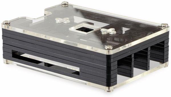 Acrylgehäuse transparent mit Lüfter und Kühlkörper für Raspberry Pi - Produktbild 2